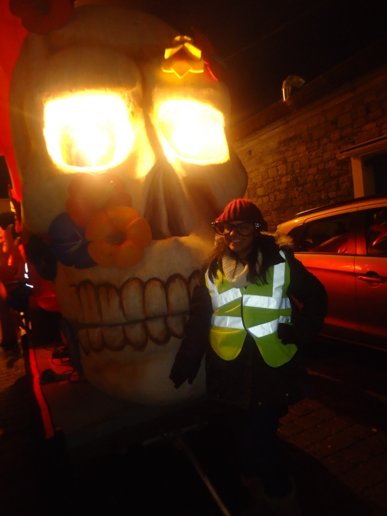 With my Skeleton float NYE Limerick 2013