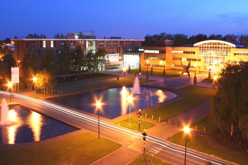 UL Campus at night