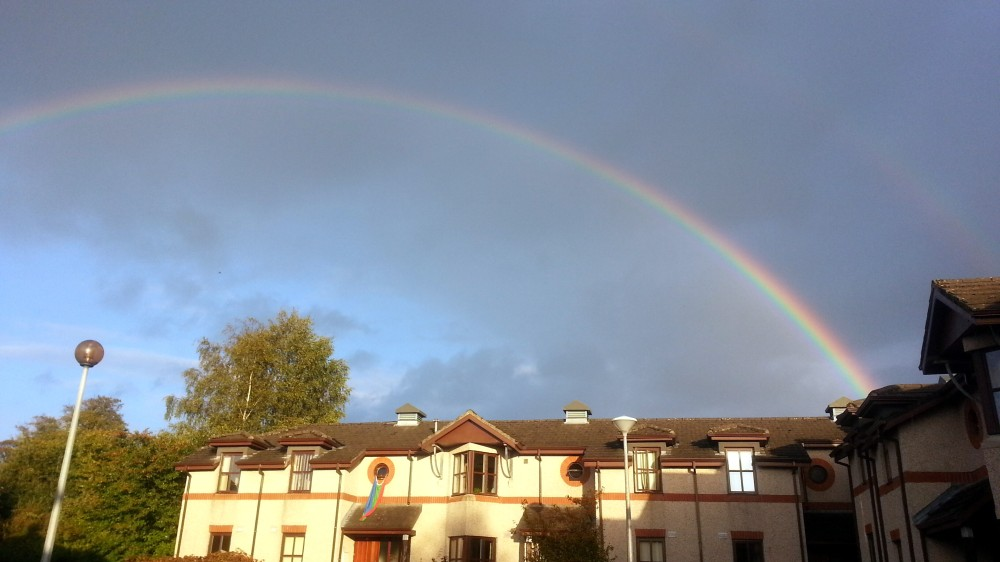 Somewhere over the rainbow...at Plassey Village