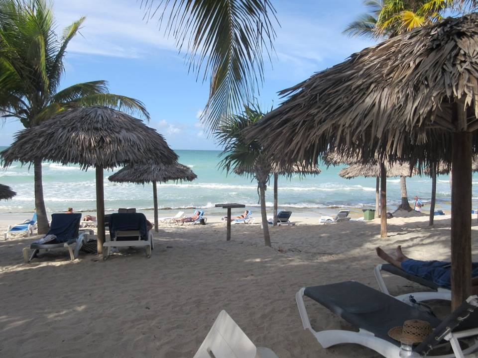 Beach life in Cuba