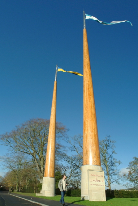 Our famous flagpoles!
