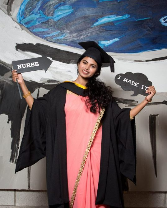 Dineshika Gamage, Sri Lanka who was conferred with a Bachelor of Science in Nursing
